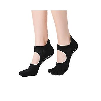 Yoga Five Finger Socks Ladies Non-slip Yoga Socks Professional Yoga Socks(Black)