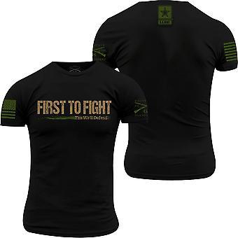 Grunt Style Army - Ensimmäinen taistella T-paita - Musta