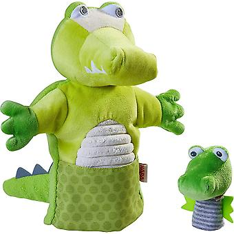 305754 - Handpuppe Krokodil mit Baby, Handpuppe ab 1.5 Jahren