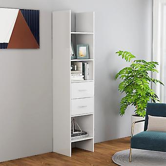 vidaXL Bücherregal Hochglanz-Weiß 40x35x180 cm Spanplatte