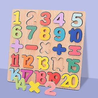 3D Puzzle Holzbrett mit buntem Alphabet Nummer Kinder Frühe Bildung Busy Board Spielzeug Matching