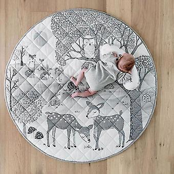 Cómoda alfombra de arrastre de algodón suave para la habitación del bebé