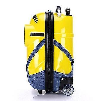 Tecknad minions ryggsäck rullande bagage spinner resa resväska