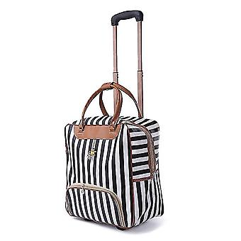 Trolley Luggage Rolling/casual Stripes Rolling Case Travel Bag