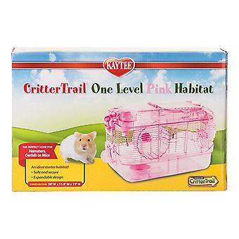 """Kaytee CritterTrail Yksitasoinen elinympäristö - Pinkki - 16""""L x 10,5""""W x 11""""H"""
