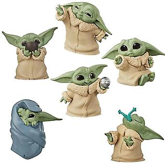 6 Styles Star Wars Baby Yoda Mandalorian Figure Toy Collection Doll