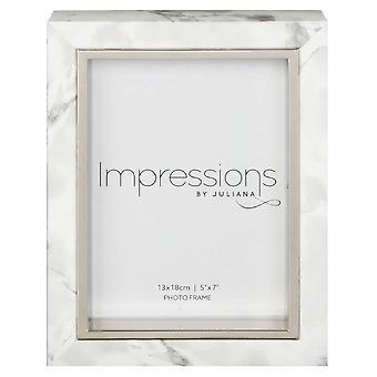 Juliana Impressions Marble Look Frame 5x7 - White
