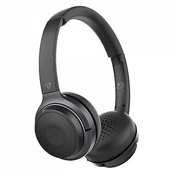 V7 HB600S, Auriculares, Diadema, Llamadas/Música, Negro, Binaural, Responder a/Fin s