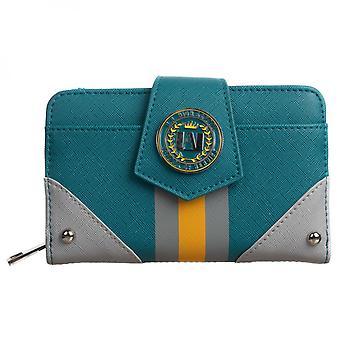 Min hjälteakademi zip runt dubbelvikt plånbok
