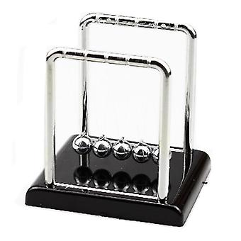 Newton's Cradle With Marble Look Base Desk Gift Decoration Toy Small Size