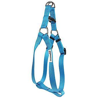 Pet collars harnesses bold nylon harness cyan extra large 25mm x80-90cm