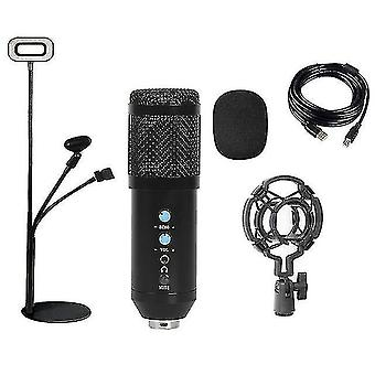 Microphones fill light bm858 usb condenser microphone kit for pc professional streaming podcast live
