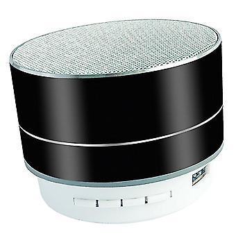 Bezdrátový bluetooth reproduktor TF USB AUX podpora zvukového reproduktoru (černá)