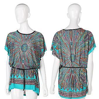 Summer Beach Sea Bohemian Style Casual Short Sleeve Stylish Sexy Women's Dress