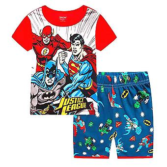 Kids Boy Girl Supererou cu mânecă scurtă T-shirt Pantaloni scurți Set tinuta de vara