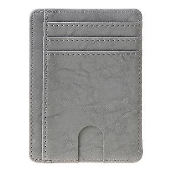 רזה Rfid חסימת ארנק עור כרטיס אשראי מחזיק תיק כסף כסף עבור גברים נשים