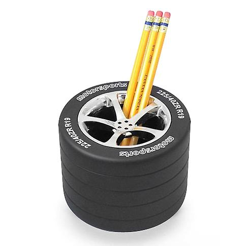 Racing Car Wheel Tyre Pen and Pencil Desk Holder