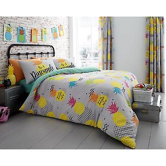 Ananas Floral moderne dynebetræk sengetøj Quilt sæt alle størrelser