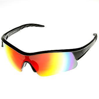 X marki Hunter Semi bez oprawek Flash lustro soczewki sportowe okulary przeciwsłoneczne