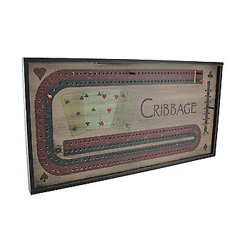 Wooden Cribbage Board Game Wall Hanging
