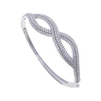 Zilveren zirkonia infinity armband