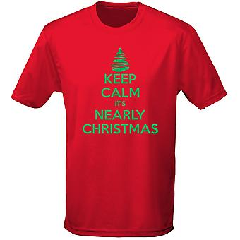 Keep Calm It's Nearly Christmas Xmas Kids Unisex T-Shirt 8 Colours (XS-XL) by swagwear