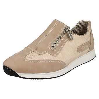 Sapatos de senhoras Rieker Casual Trainer estilo com zíper, 56060