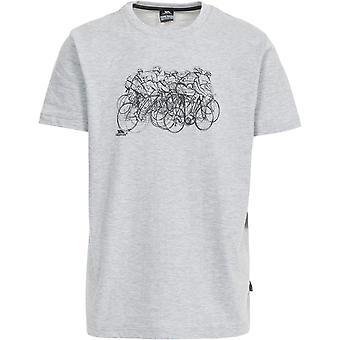 Hausfriedensbruch Wicky Kurzarm Herren Casual Sports T-Shirt mit Print