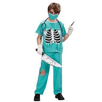 Skræmmende kirurg kostume