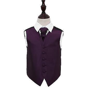 Cadbury lila griechischen wichtige Hochzeit Weste & Krawatte Set für jungen