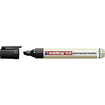 Edding edding 22 permanent marker EcoLine 4-22001 Permanent marker Black waterproof: Yes