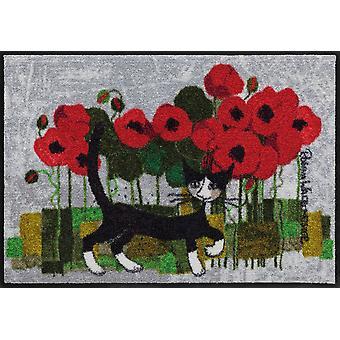 Rosina Wachtmeister dörrmatta Poppywalk Salon Loewe tvättbara katt dörrmatta