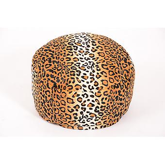 Pouf optique Cheetah fourrure animale Ø47/34 cm