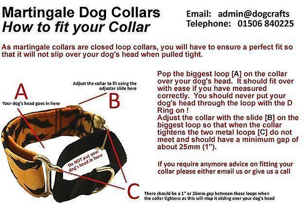Dogcrafts Martingale 40mm Pink Orange White Green Jacquard Ribbon Brass Dog Collar