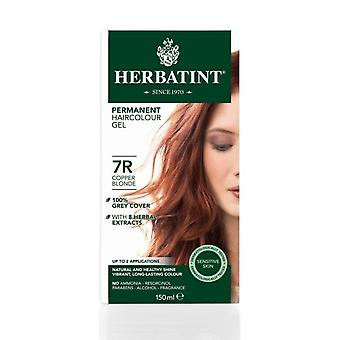 Herbatint, Copper Blonde Hair Colour 7R, 150ml