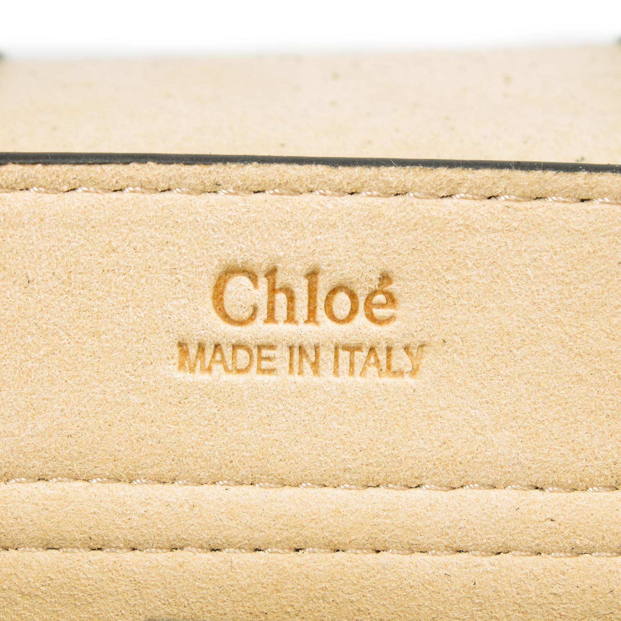 Chloe Hudson kalveskinn skulderveske | Svart med gull Hardware