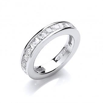 Cavendish Français en argent et zircon cubique 3/4 Eternity Ring