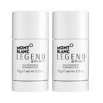 2-pack Mont Blanc Legend Spirit deostick 75g
