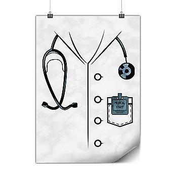 Matt oder glänzend Poster mit Arzt Anzug Kostüm | Wellcoda | * y3590