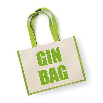 Large Green Jute Bag Gin Bag