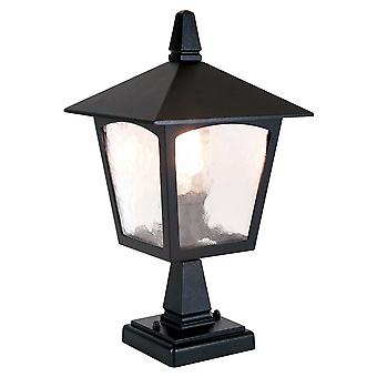 York noir socle extérieur lanterne - Elstead éclairage Bl7 noir