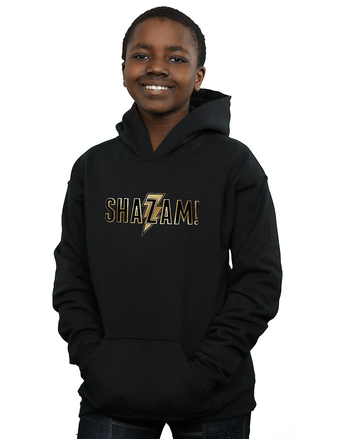 DC Comics Boys Shazam Text Logo Hoodie