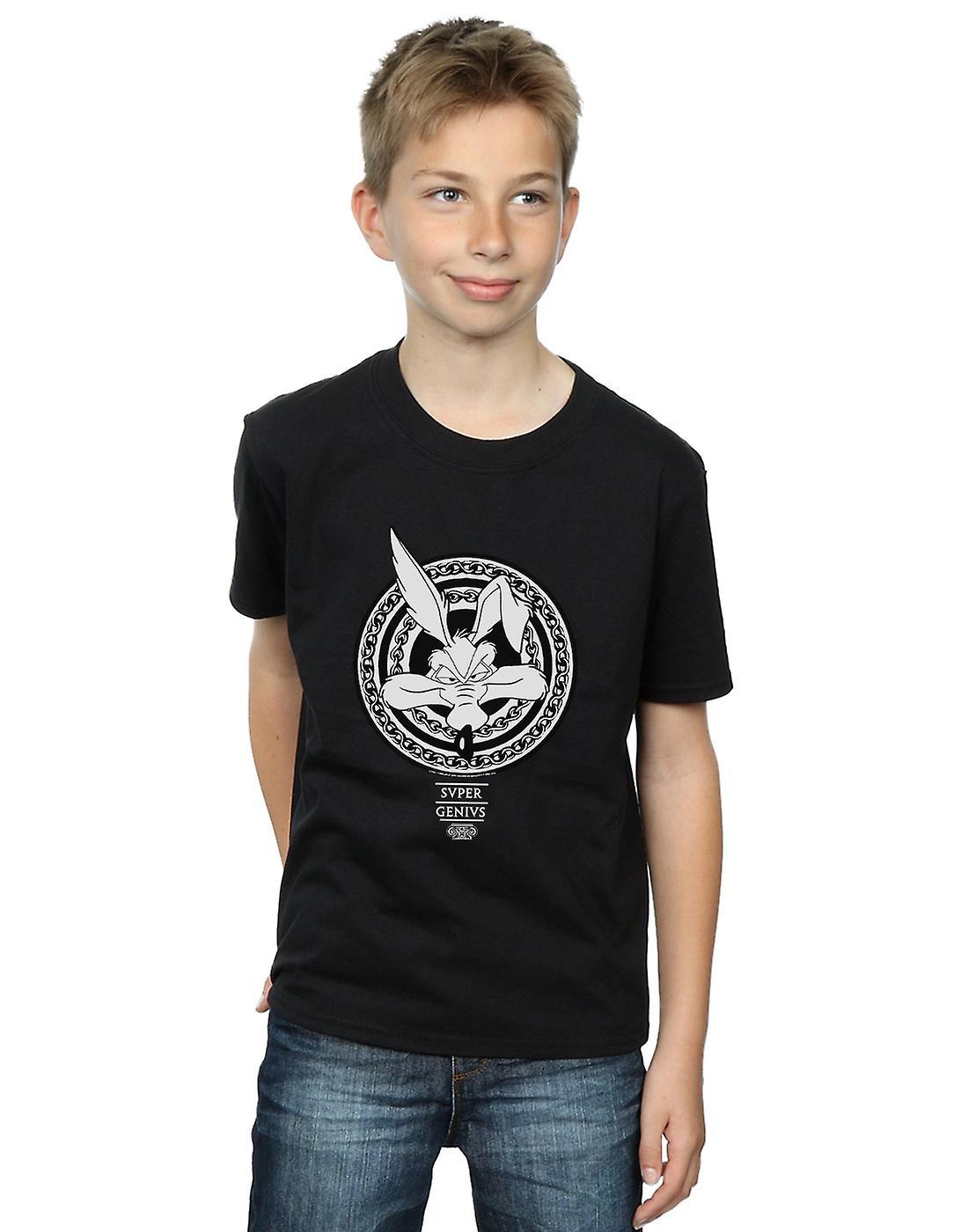 Looney Tunes Boys Wile E Coyote Super Genius T-Shirt
