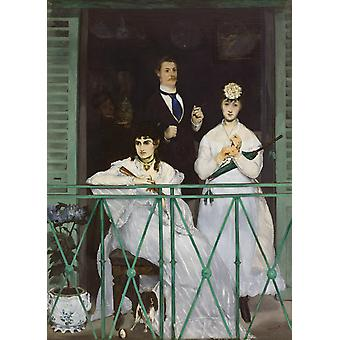 The Balcony, Edouard Manet, 60x43cm