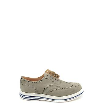 Church's Ezbc004061 Men's Beige Suede Lace-up Shoes
