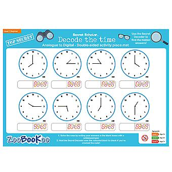 ZooBooKoo Educational Secret Scholar Decode the Time 24hr (Level 2)