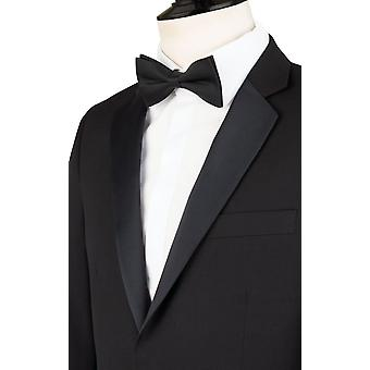 Dobell Mens Black 2 Piece Tuxedo Skinny Fit Notch Lapel Evening Dinner Suit