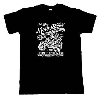 Moto Racer Classic Mens T-Shirt - Motorbikes Gift Him