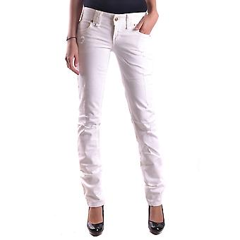 John Galliano Ezbc164035 Women's White Denim Jeans