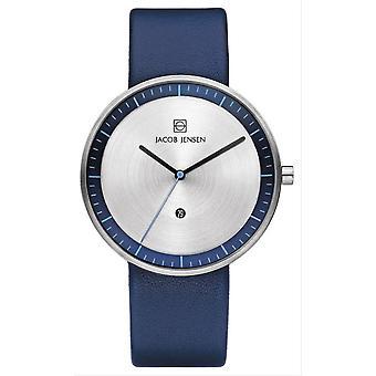 Jacob Jensen Strata Series Watch-marrom/azul